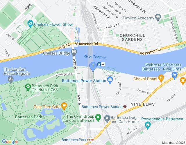 Location map for The Turbine Theatre