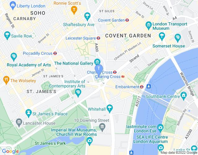 Location map for West End Live 2017