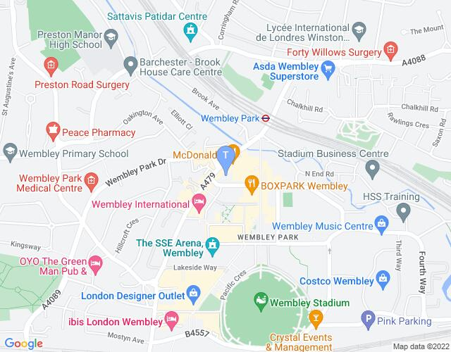 Location map for Troubadour Wembley Park Theatre