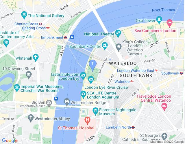 Location map for Underbelly Festival