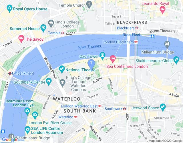 Location map for An Evening with Chickenshed