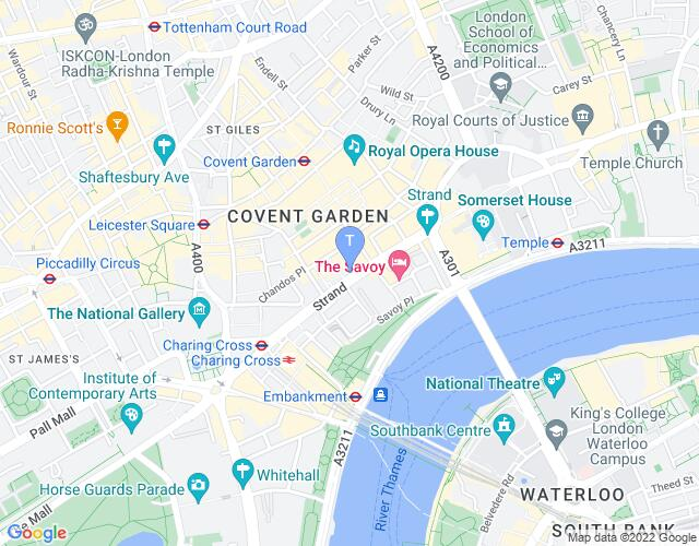 Location map for Vaudeville Theatre