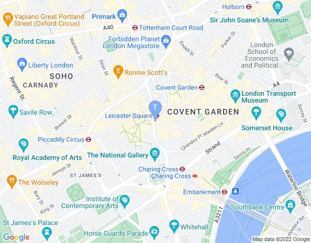Location map for Wyndham's Theatre