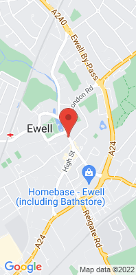 Map showing the location of the Ewell High Street [Closed] monitoring site