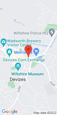 Map showing the location of the Devizes, Sidmouth Street monitoring site