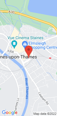 Map showing the location of the Staines Bus Station Bus Stand 3  monitoring site