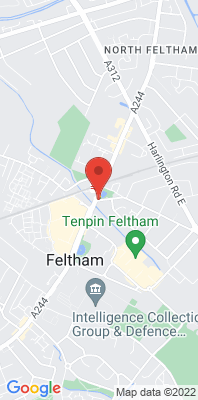 Map showing the location of the Hounslow Feltham monitoring site