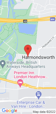Map showing the location of the London Hillingdon Harmondsworth Os monitoring site