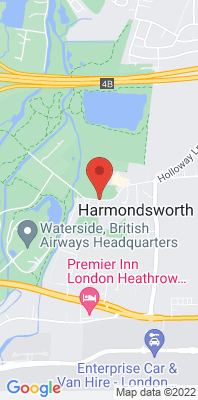 Map showing the location of the London Hillingdon Harmondsworth monitoring site