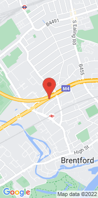 Map showing the location of the Hounslow Brentford monitoring site