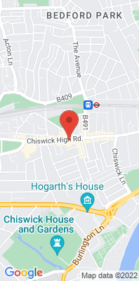 Map showing the location of the Hounslow Chiswick monitoring site