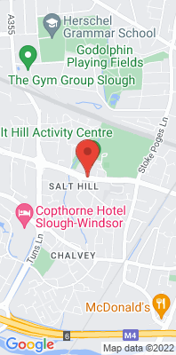 Map showing the location of the Slough Town Centre A4 monitoring site