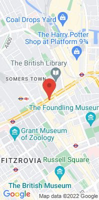 Map showing the location of the Camden - Euston Road monitoring site