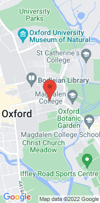 Map showing the location of the Oxford High St monitoring site