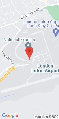 Map showing the location of the London Luton Airport monitoring site