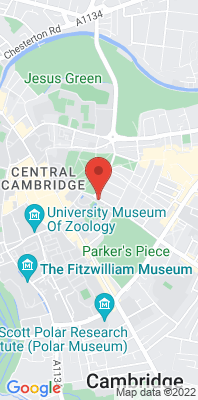 Map showing the location of the Cambridge Parker Street monitoring site
