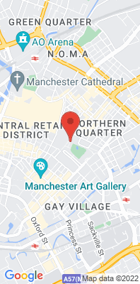 Map showing the location of the Manchester Piccadilly LA monitoring site