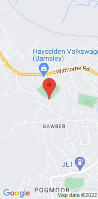 Map showing the location of the Barnsley Gawber monitoring site