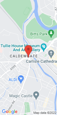 Map showing the location of the Carlisle Roadside monitoring site
