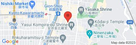 地図 侘家古暦堂 花見小路本店