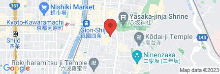 地図 祇園京料理 花咲
