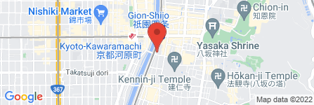 地図 musubi-cafe祇園鴨川店