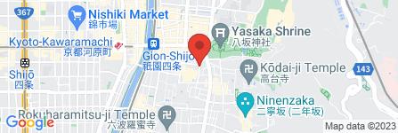 地図 お茶屋 京屋