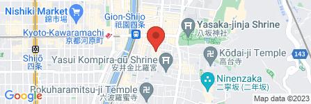 地図 祇園たに本