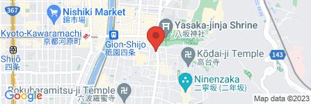 地図 祇園 鳴海屋