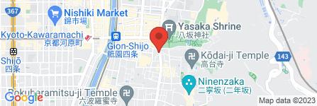 地図 つえ屋 祇園店