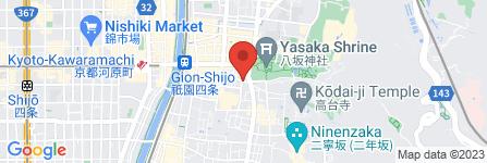 地図 祇園  楽味