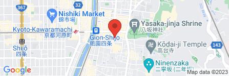 地図 まんざら祇園店