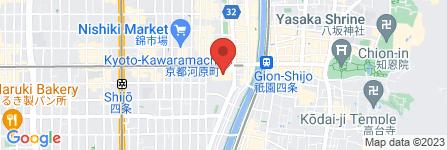 地図 株式会社高島屋京都店