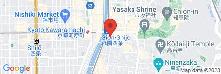 地図 京都祇園 辰美屋