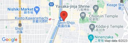地図 KOBE BEEF STEAK モーリヤ祇園