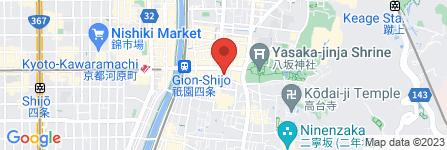 地図 ぎをんや満文・青木庵