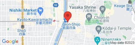 地図 京都四條 南座