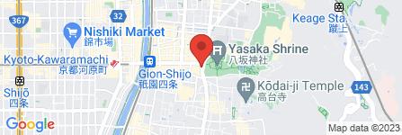 地図 ツルハドラッグ八坂神社前店