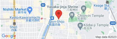 地図 スギドラッグ  祇園店