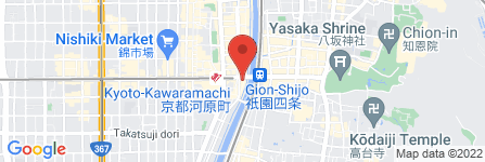 地図 LUXBE MEL  四条河原町店