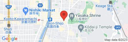 地図 アパホテル 京都祇園 EXCELLENT