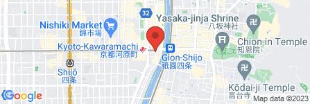 地図 酒楽 四条河原町店