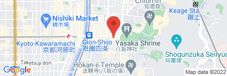 地図 KEZURIHIYA 京都祇園