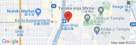 地図 男きもの専門店  SAMURAI 京都店