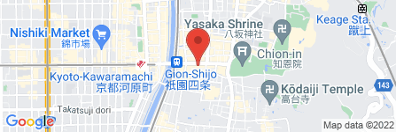 地図 しゃぶ禅祇園店