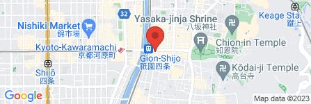地図 美々卯 京都祇園店