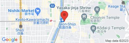 地図 鼓月 祇園店