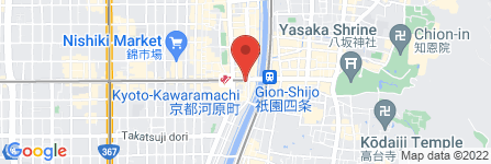 地図 BlingBling  京都四条河原町