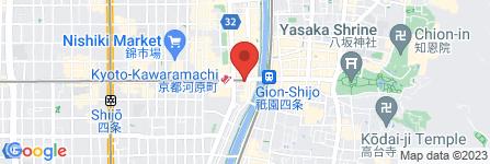 地図 オリエンタル・スタイル 河原町店