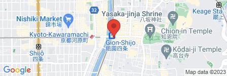地図 祇園饅頭 四条営業所